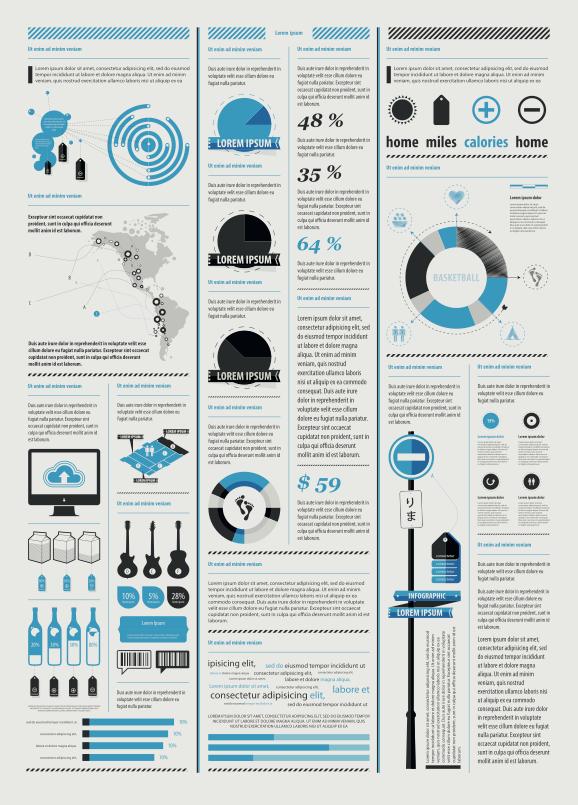 7 векторных наборов для инфографики