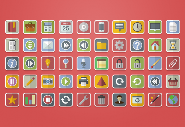 10 наборов флэт иконок