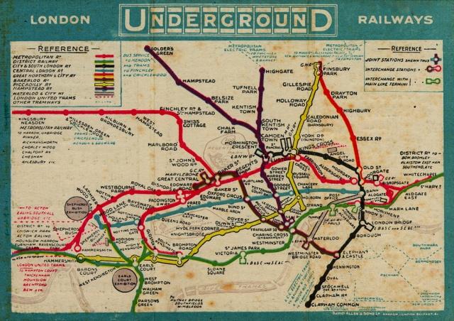 Эволюция схемы лондонского метро с 1985 года