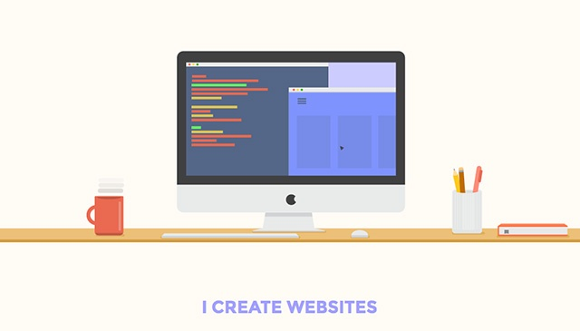 8 websites with flat design
