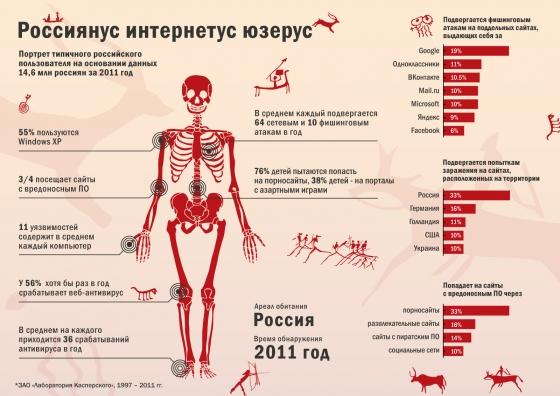 Интернет-пользователь в России, инфографика