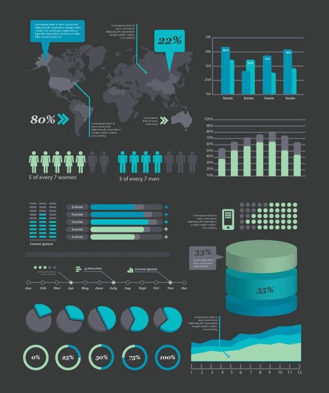 Бесплатный набор для инфографики #3