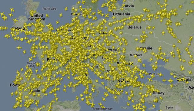 Все самолеты в реальном времени