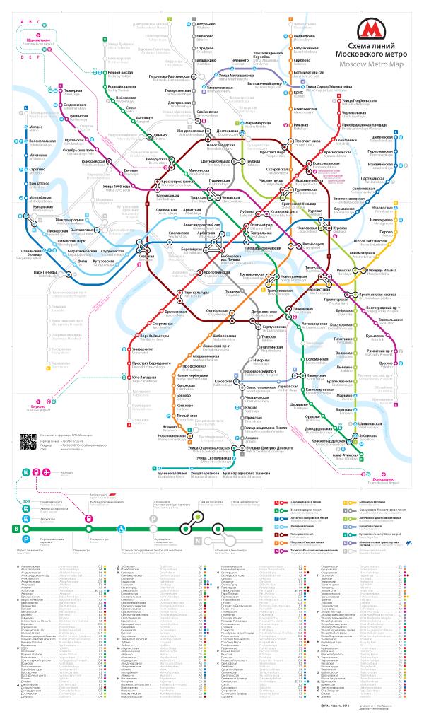 Открытый конкурс на новую схему московского метро