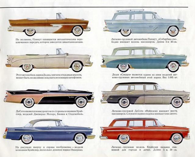 Каталог автомобилей США 1956