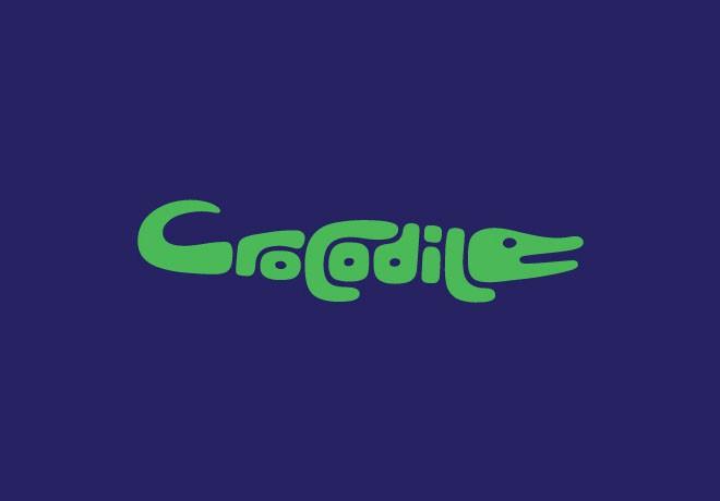 1-crocodile-typography-design