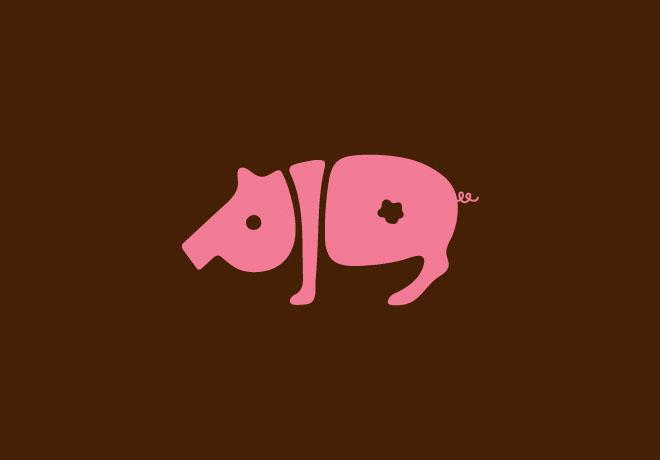 12-pig-typography-design