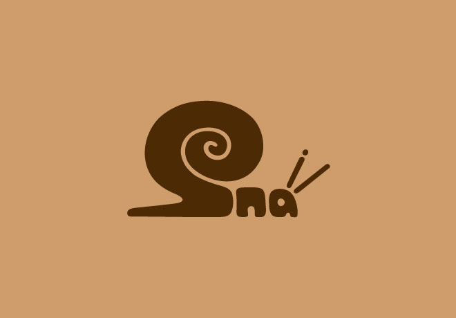 14-snail-typography-design