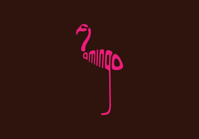 4-flamingo-typography-design