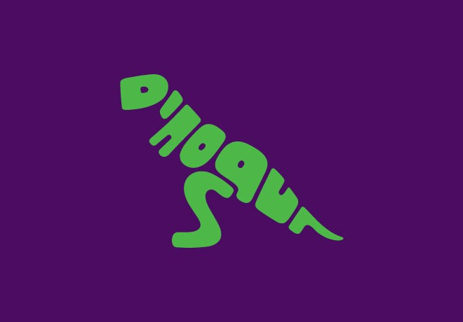 7-dinosaur-typography-design