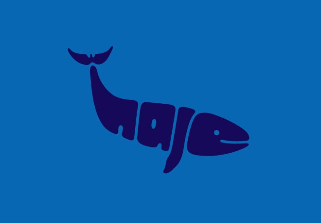 9-whale-typography-design