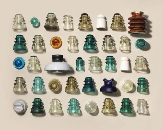GLASS-INSULATORS-COLLECTION