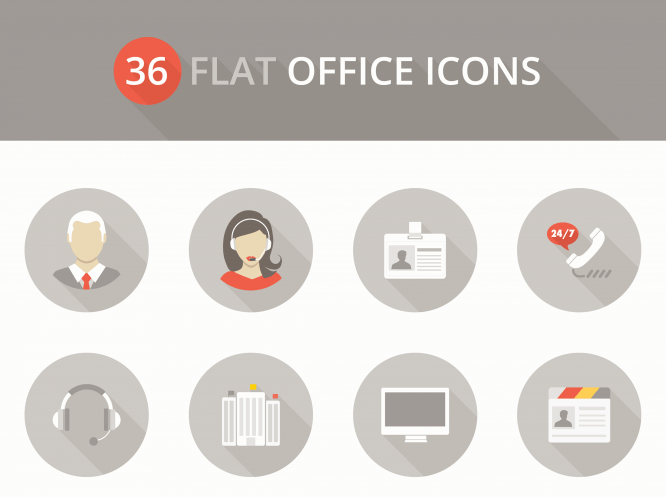 Flat-office-icons