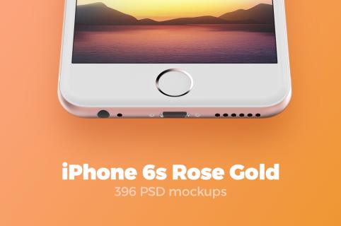 iPhone 6s Rose Gold mockups