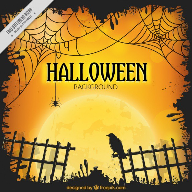 halloween-background-with-fence-and-a-raven_23-2147570773