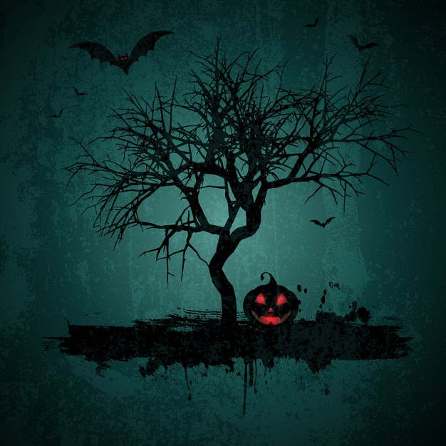 halloween-background-with-tree-and-pumpkin-in-grunge-style_1048-3038