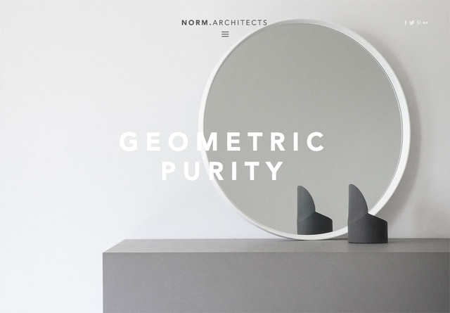 Screenshot of a clean website: NORM.ARCHITECTS