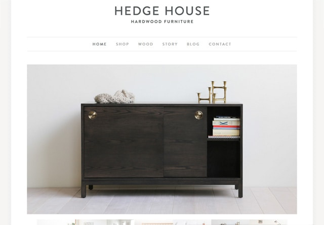 Screenshot of a clean website: Hedge House Furniture