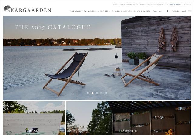 Screenshot of a clean website: Skargaarden