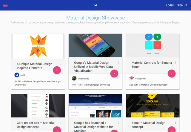 Material Design Showcase