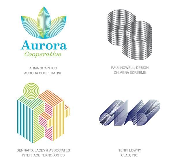 Микролинии как тенденция в логотипах 2017