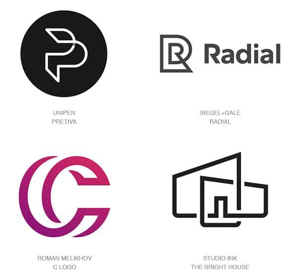 Парные объекты в дизайне лого