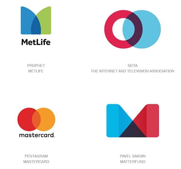 Тенденция логотипов 2017 - Простые Оверлеи