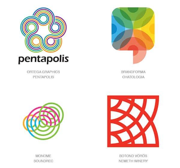Мультицентрирование в логотипах 2017