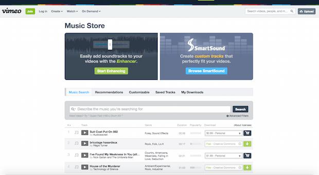 Music Store Vimeo