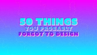 50 важных элементов продукта, которые ты забыл задизайнить