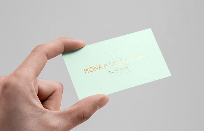 02-Mona-De-Castellarnau-Gold-Foil-Blind-Emboss-Business-Card-by-Anagrama-on-BPO
