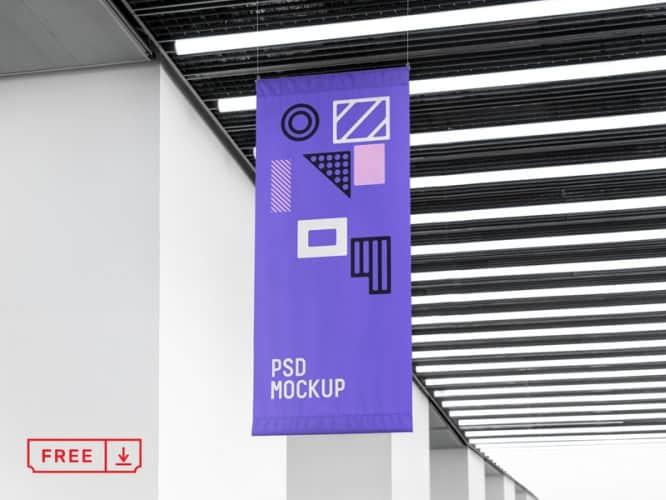 Free-PSD-Flag-Mockup