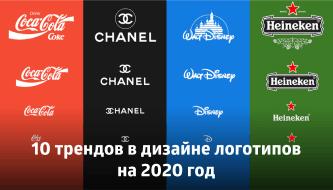 10 трендов в дизайне логотипов на 2020 год