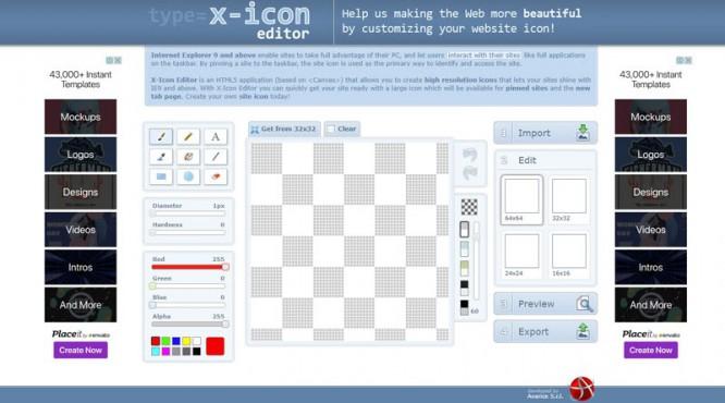 X-icon-Editor
